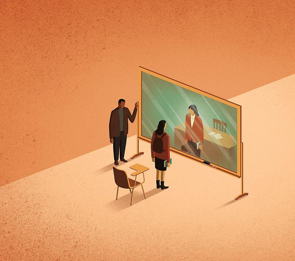 Vitro teacher illustration for Brandman University